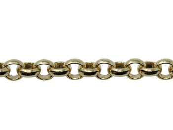 Gold 2mm Rolo Chain - Sold By 6 Inches