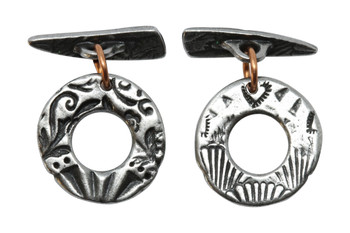 Flora Toggle Bar and Eye - Antique Pewter