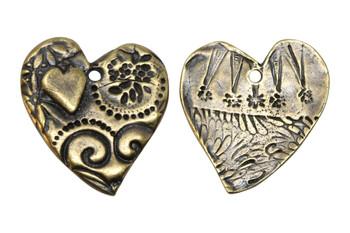 Amor Pendant - Antique Brass