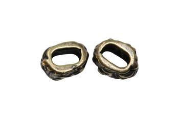 Jardin Barrel Bead - Antique Brass