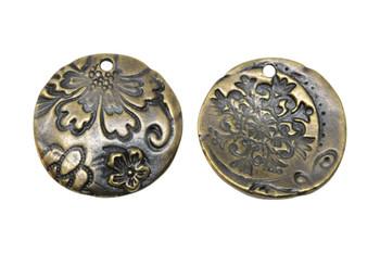 Flora Pendant - Antique Brass