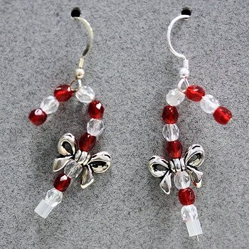 Candy Cane (Czech glass) Earring Kit