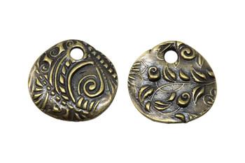 Jardin Medium Charm - Antique Brass