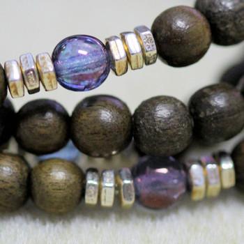 Stretch Mala Kit - Lavender & Gray Wood
