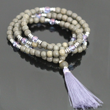 Stretch Mala Kit - Lavender & Gray Wood