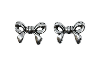 Bow Bead - Silver Plated