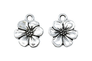 Apple Blossom Charm - Silver Plated