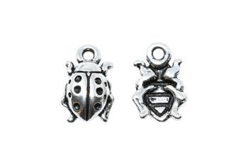 Ladybug Charm - Silver Plated