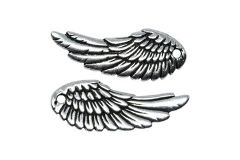 Wing Charm - Silver Plated