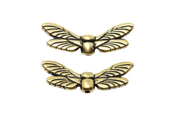 Dragonfly Wings Bead - Gold Plated