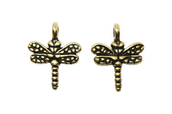 Small Dragonfly Charm - Gold Plated