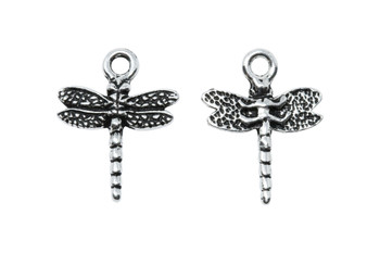 Dragonfly Charm - Silver Plated