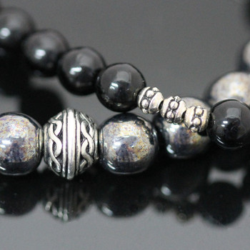 Stretch Bracelets Kit - Black & Hematite