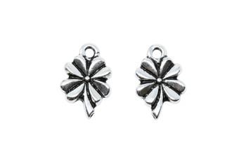 Four Leaf Clover Charm - Silver Plated