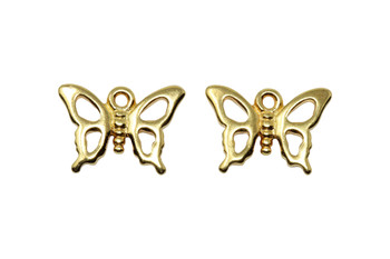 Monarch Butterfly Charm - Gold Plated