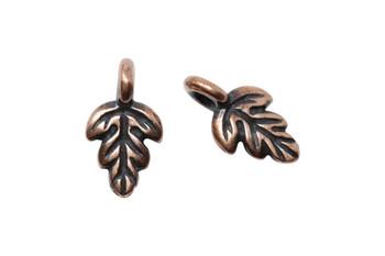 Oak Leaf Charm - Copper Plated