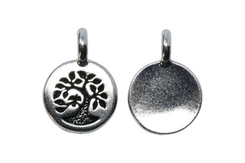 Tree Charm - Silver Plated