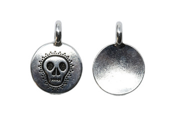 Skull Charm - Silver Plated