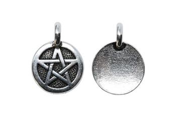 Pentagram Charm - Silver Plated