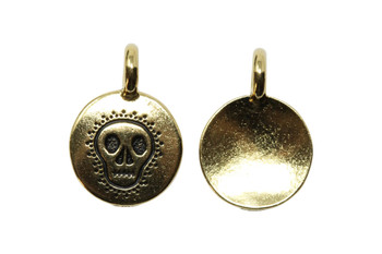 Skull Charm - Gold Plated