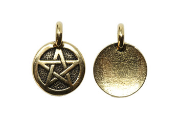 Pentagram Charm - Gold Plated