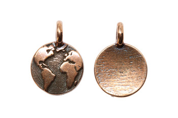 Earth Charm - Copper Plated