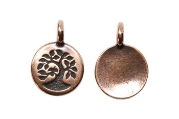 Tree Charm - Copper Plated