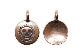 Skull Charm - Copper Plated