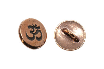 Small Om Button - Copper Plated