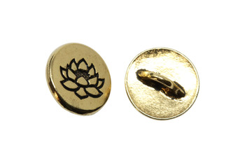 Small Lotus Button - Gold Plated