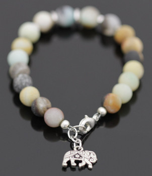 Modern Gemstone Bracelet Kit - Black Gold Amazonite