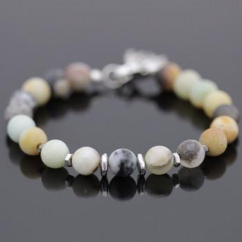 Modern Gemstone Bracelet Kit - Black Gold Amazonite