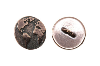 Earth Button - Copper Plated