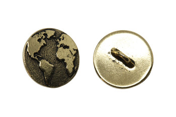 Earth Button - Gold Plated