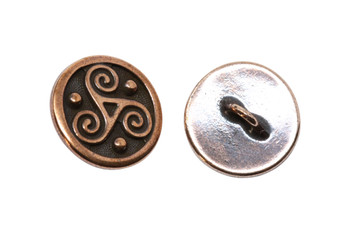 Triskele Button - Copper Plated