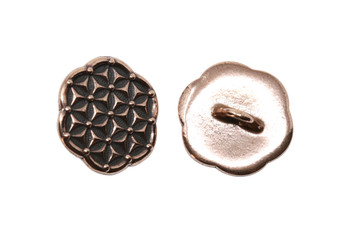 Flower of Life Button - Copper Plated