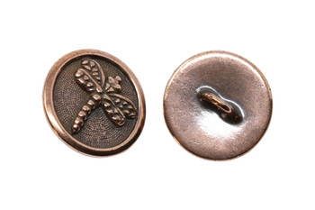 Dragonfly Button - Copper Plated