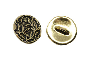 Bamboo Button - Gold Plated