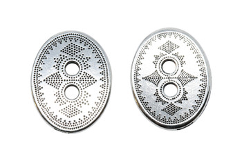 Tribal Button - Silver Plated