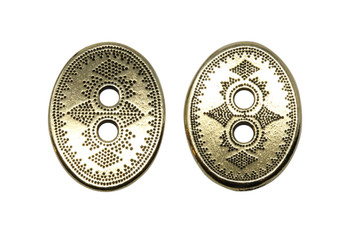 Tribal Button - Gold Plated