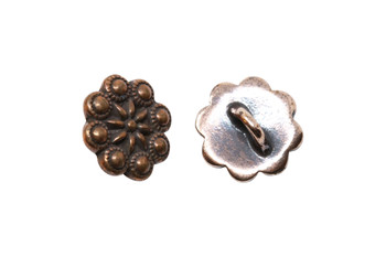 Rosette Button - Copper Plated