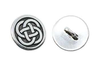 Celtic Knot Button - Silver Plated