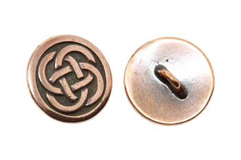 Celtic Knot Button - Copper Plated