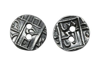 Coin Button - Antique Pewter