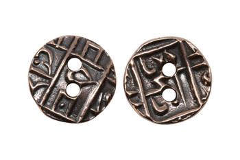 Coin Button - Copper Plated
