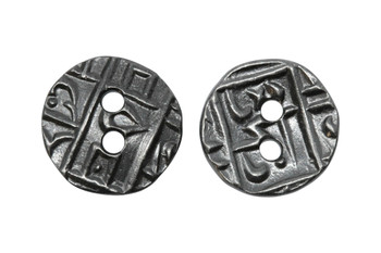 Coin Button - Gunmetal