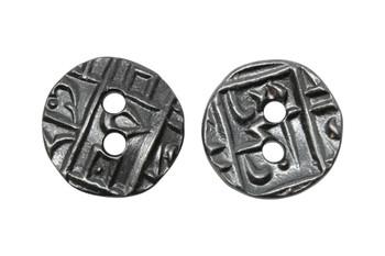 Coin Button - Gunmetal