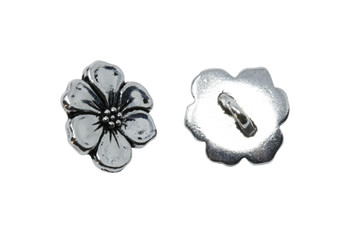 Apple Blossom Button - Silver Plated