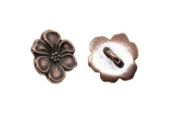 Apple Blossom Button - Copper Plated