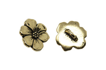 Apple Blossom Button - Gold Plated